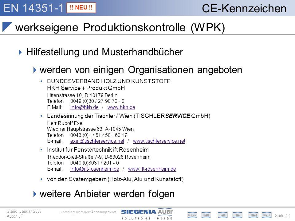 werkseigene Produktionskontrolle (WPK)