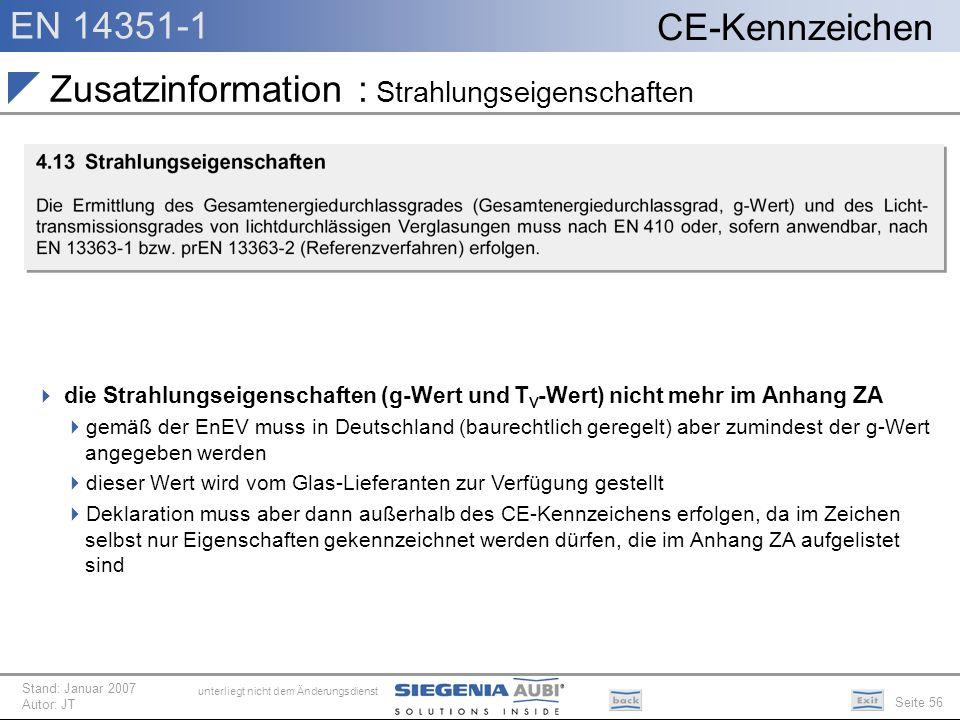 Zusatzinformation : Strahlungseigenschaften