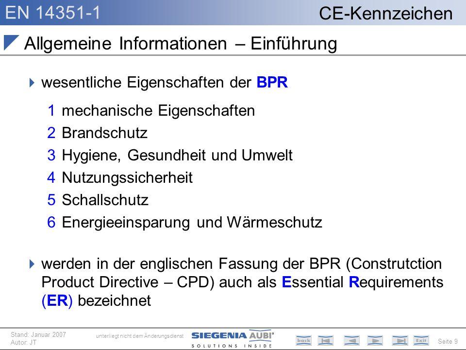 Allgemeine Informationen – Einführung