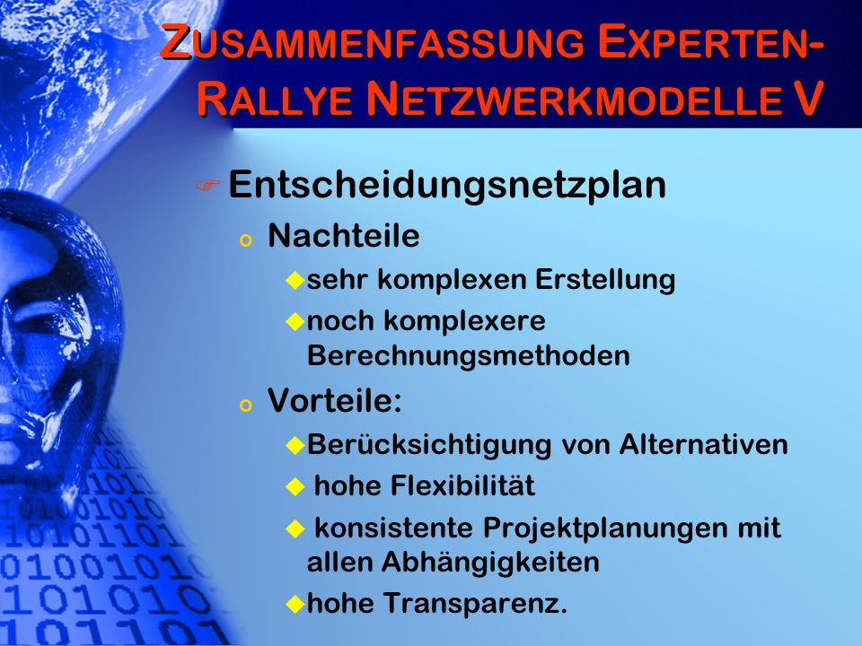 Zusammenfassung Experten-Rallye Netzwerkmodelle V