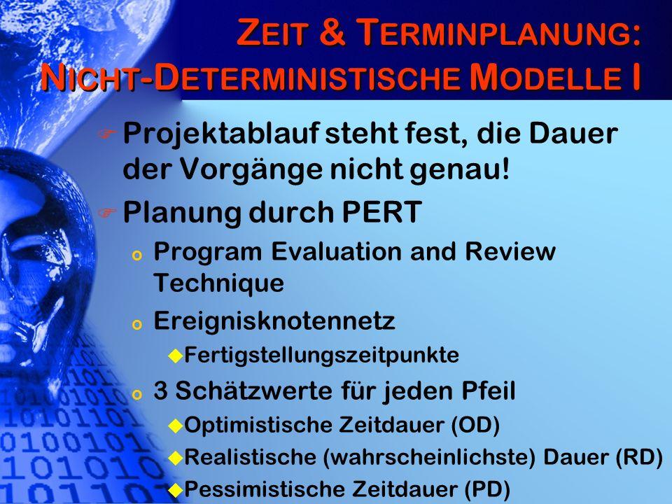Zeit & Terminplanung: Nicht-Deterministische Modelle I