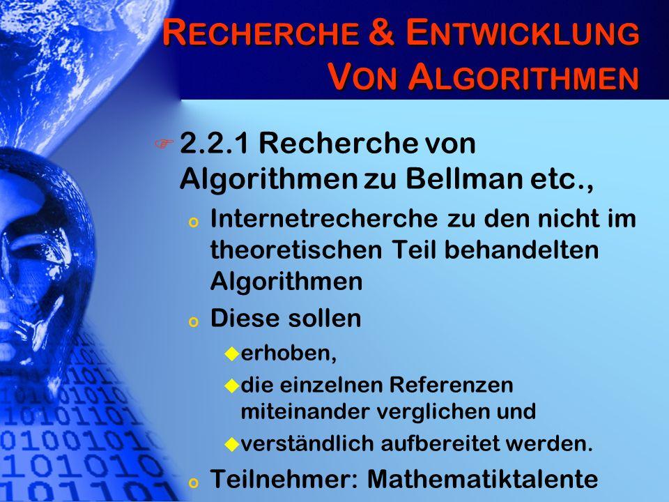 Recherche & Entwicklung Von Algorithmen