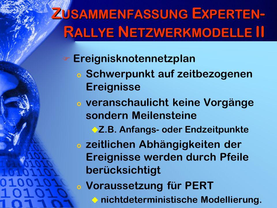 Zusammenfassung Experten-Rallye Netzwerkmodelle II