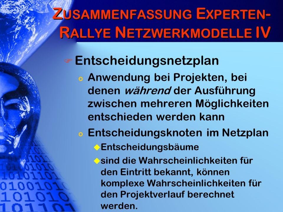 Zusammenfassung Experten-Rallye Netzwerkmodelle IV