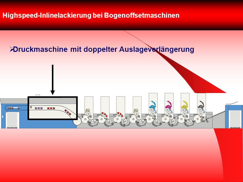 Highspeed-Inlinelackierung bei Bogenoffsetmaschinen