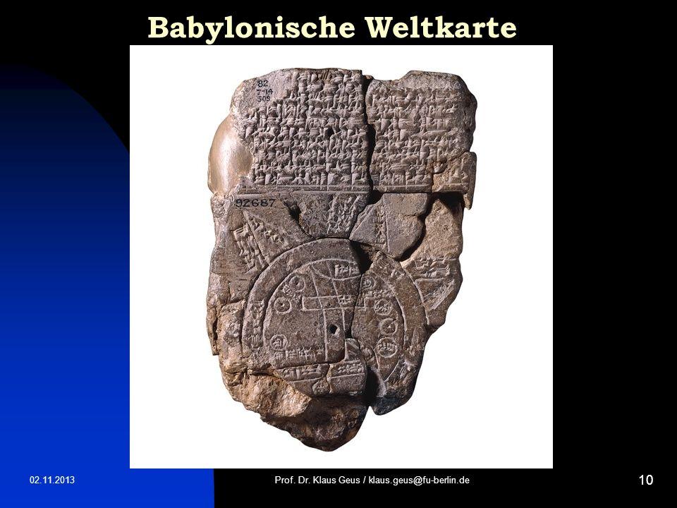 Babylonische Weltkarte