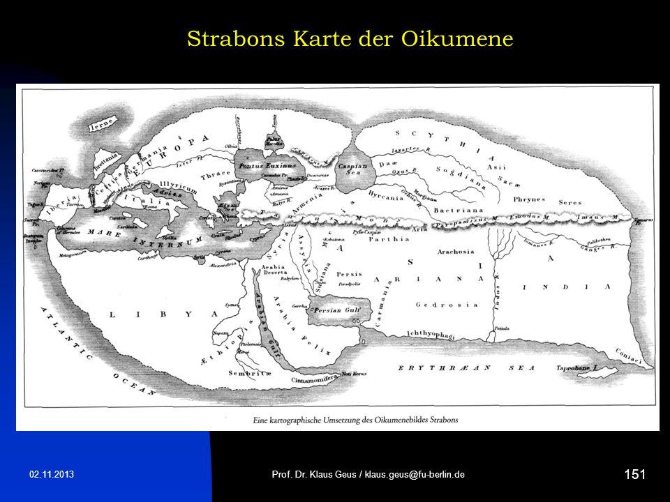 Strabons Karte der Oikumene