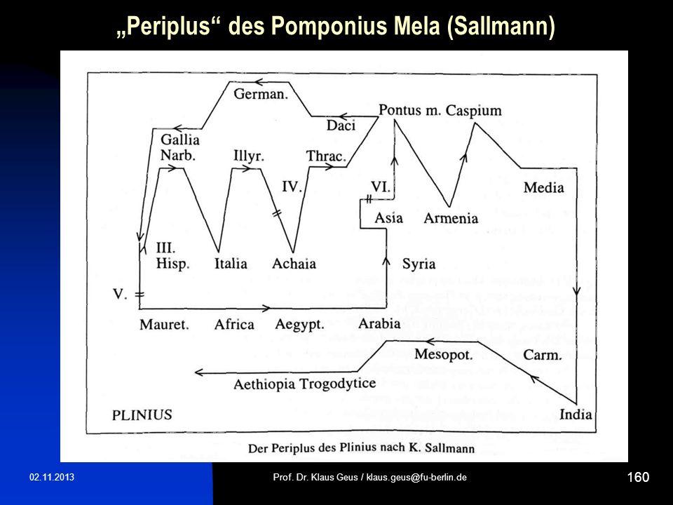 """Periplus des Pomponius Mela (Sallmann)"