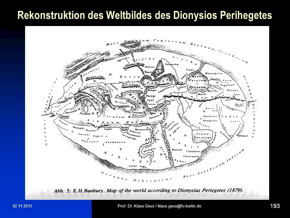 Rekonstruktion des Weltbildes des Dionysios Perihegetes