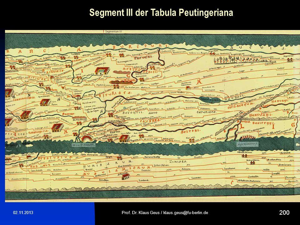 Segment III der Tabula Peutingeriana