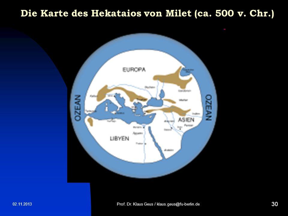 Die Karte des Hekataios von Milet (ca. 500 v. Chr.)