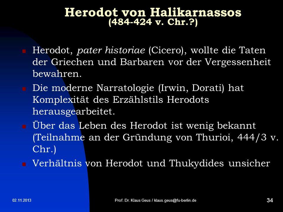 Herodot von Halikarnassos (484-424 v. Chr. )