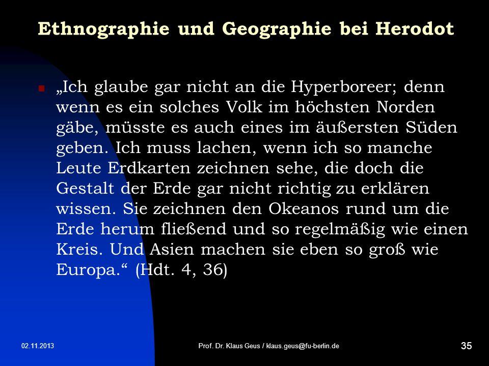 Ethnographie und Geographie bei Herodot