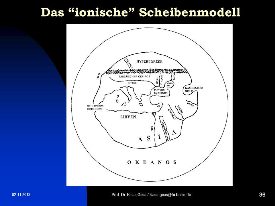 Das ionische Scheibenmodell