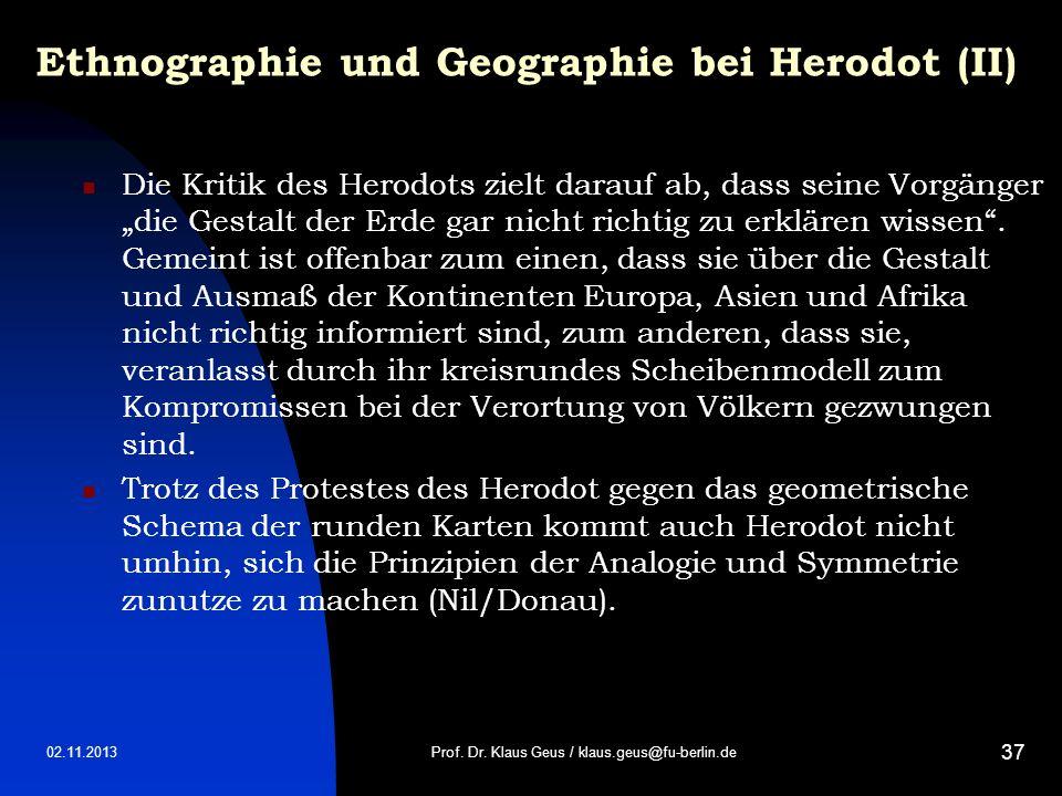 Ethnographie und Geographie bei Herodot (II)