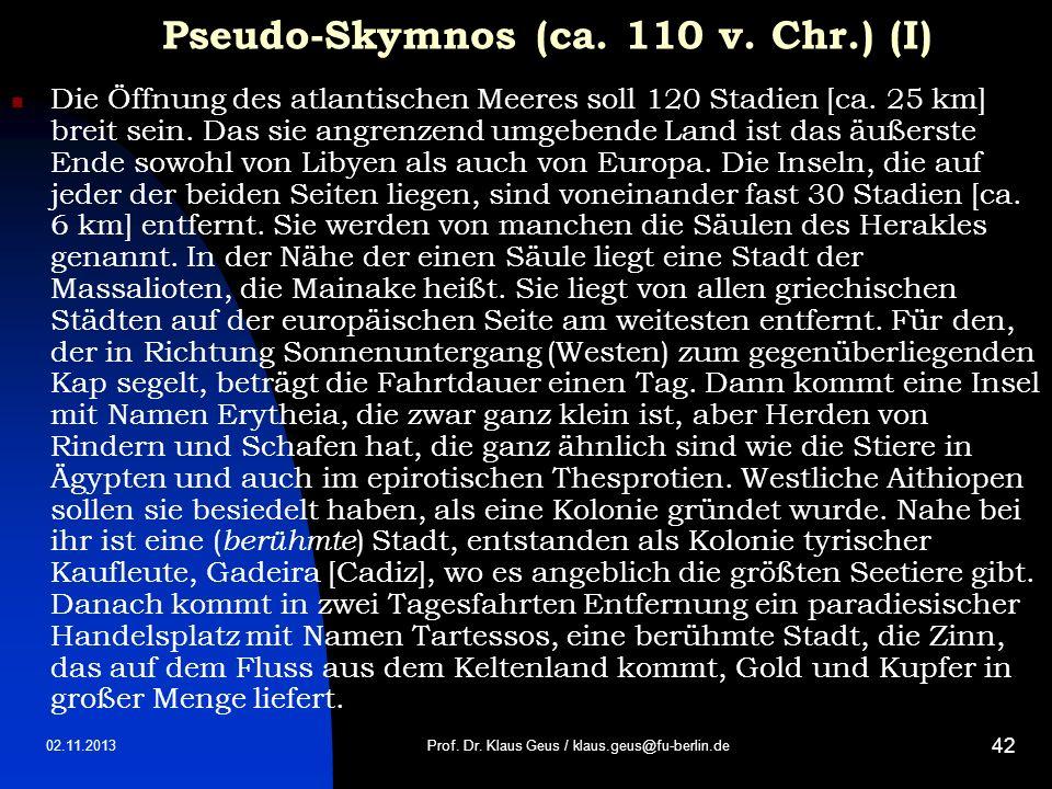 Pseudo-Skymnos (ca. 110 v. Chr.) (I)
