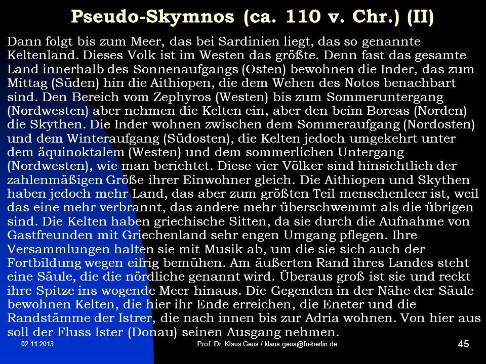 Pseudo-Skymnos (ca. 110 v. Chr.) (II)