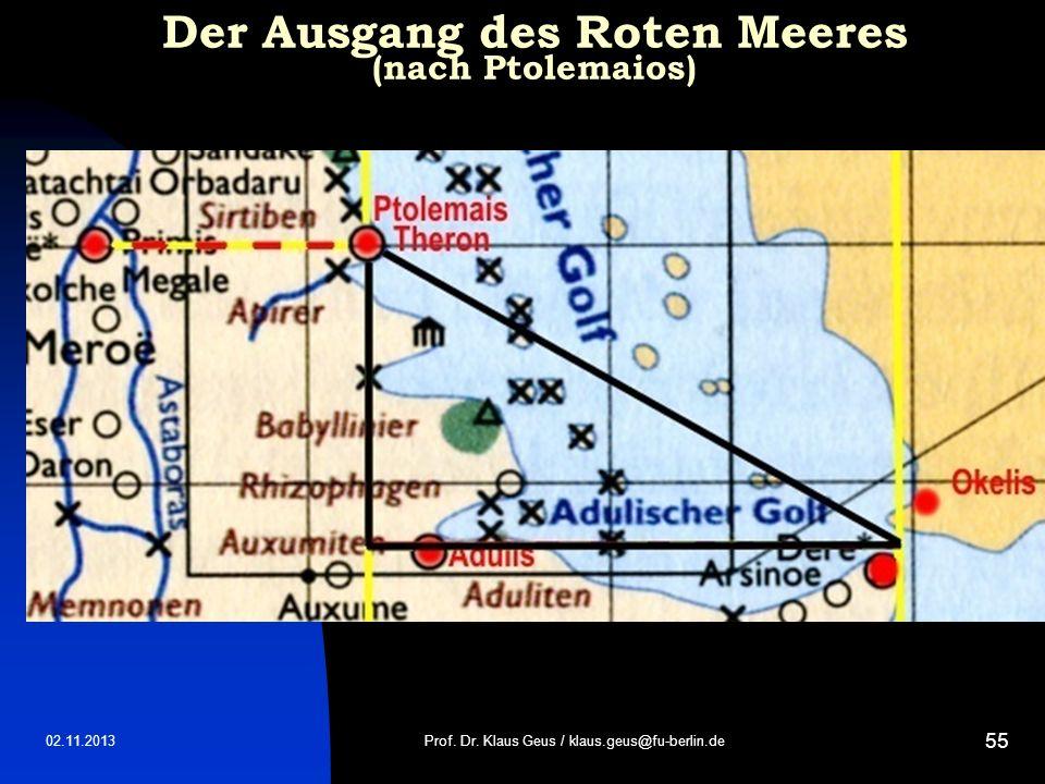 Der Ausgang des Roten Meeres (nach Ptolemaios)