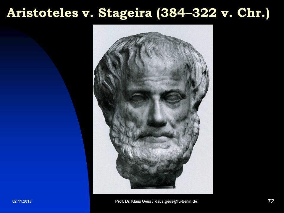 Aristoteles v. Stageira (384–322 v. Chr.)