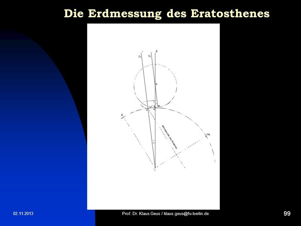 Die Erdmessung des Eratosthenes