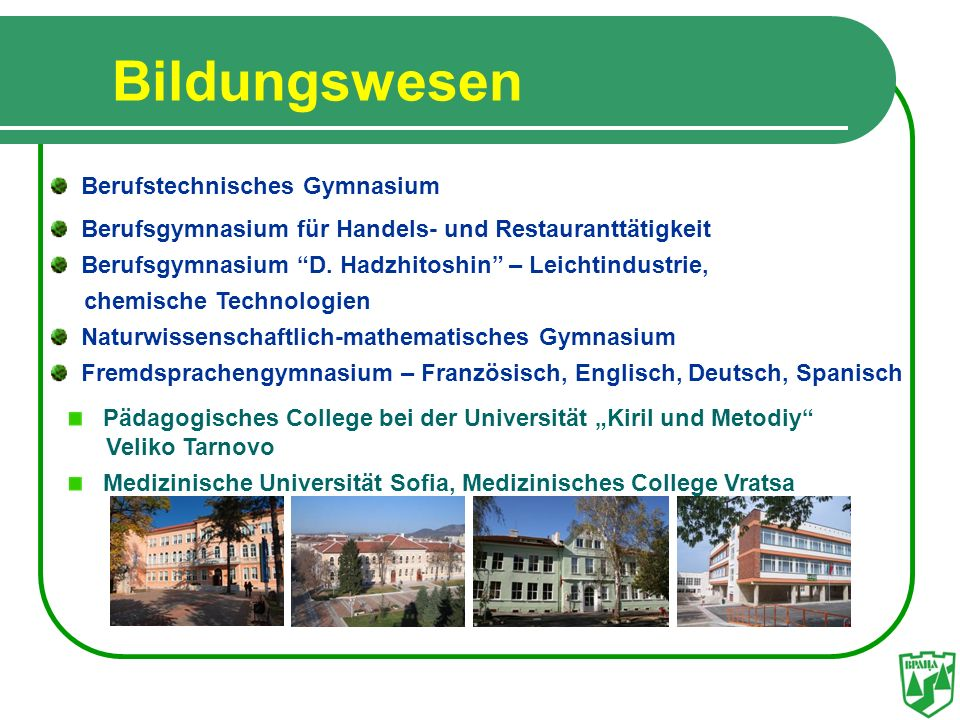 Bildungswesen Berufstechnisches Gymnasium
