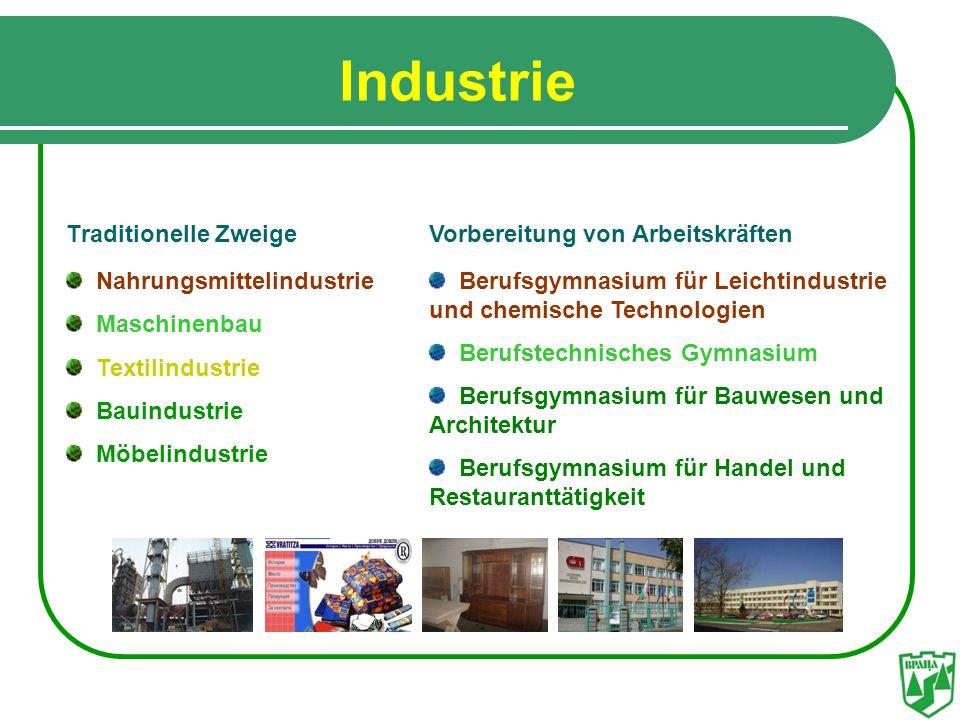 Industrie Тraditionelle Zweige Nahrungsmittelindustrie Мaschinenbau