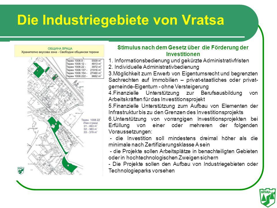 Die Industriegebiete von Vratsa