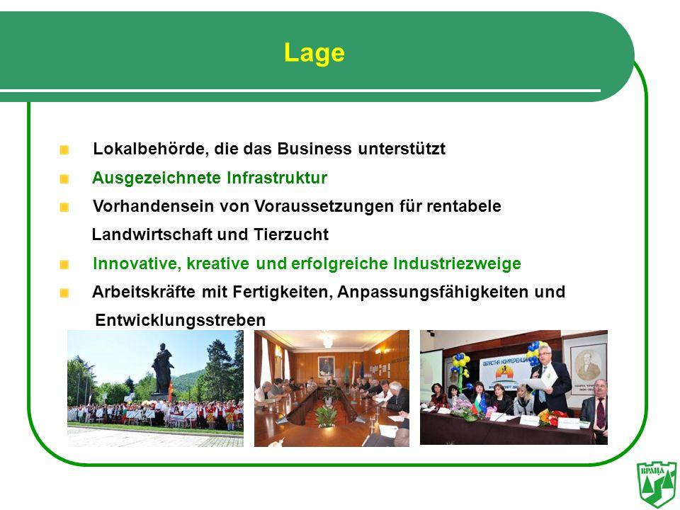 Lage Lokalbehörde, die das Business unterstützt