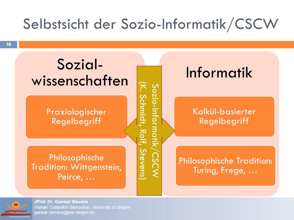 Selbstsicht der Sozio-Informatik/CSCW