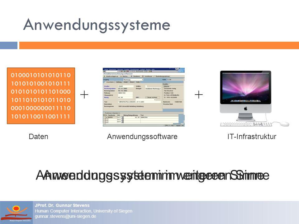 Anwendungssysteme + + = Anwendungssystem im weiteren Sinne