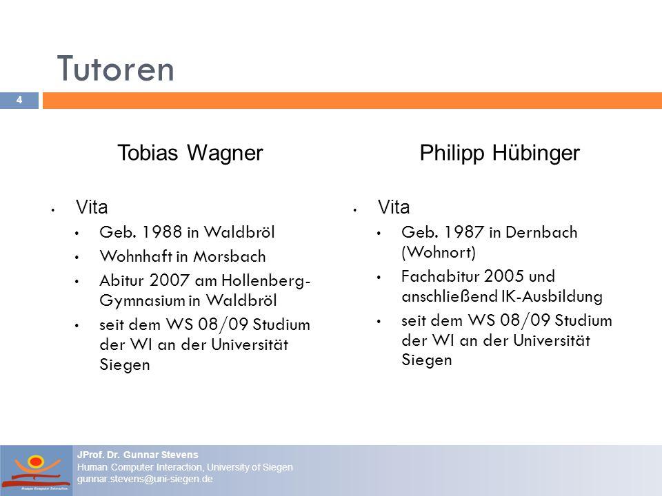 Tutoren Tobias Wagner Vita Geb. 1988 in Waldbröl Wohnhaft in Morsbach