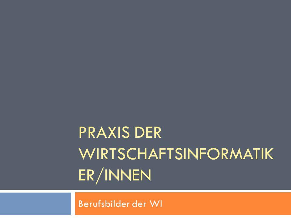 Praxis der Wirtschaftsinformatiker/INNEN
