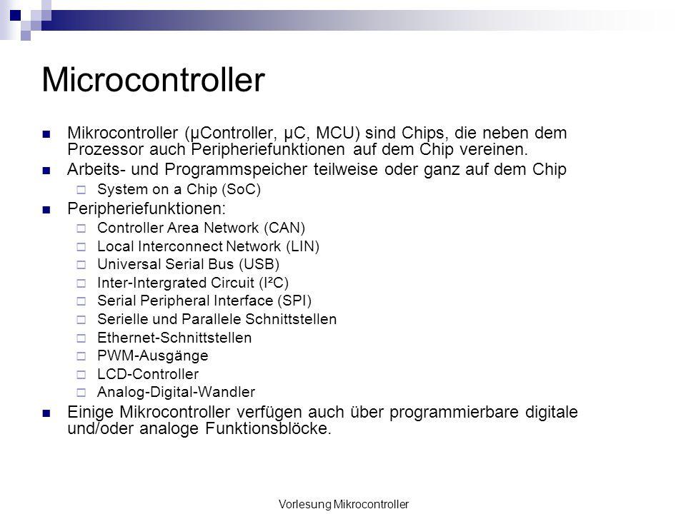 Vorlesung Mikrocontroller