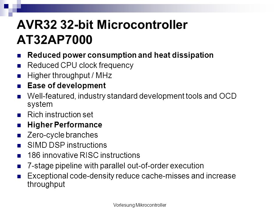 AVR32 32-bit Microcontroller AT32AP7000