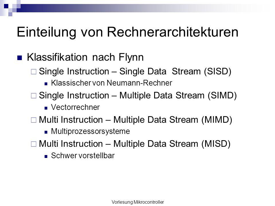 Einteilung von Rechnerarchitekturen