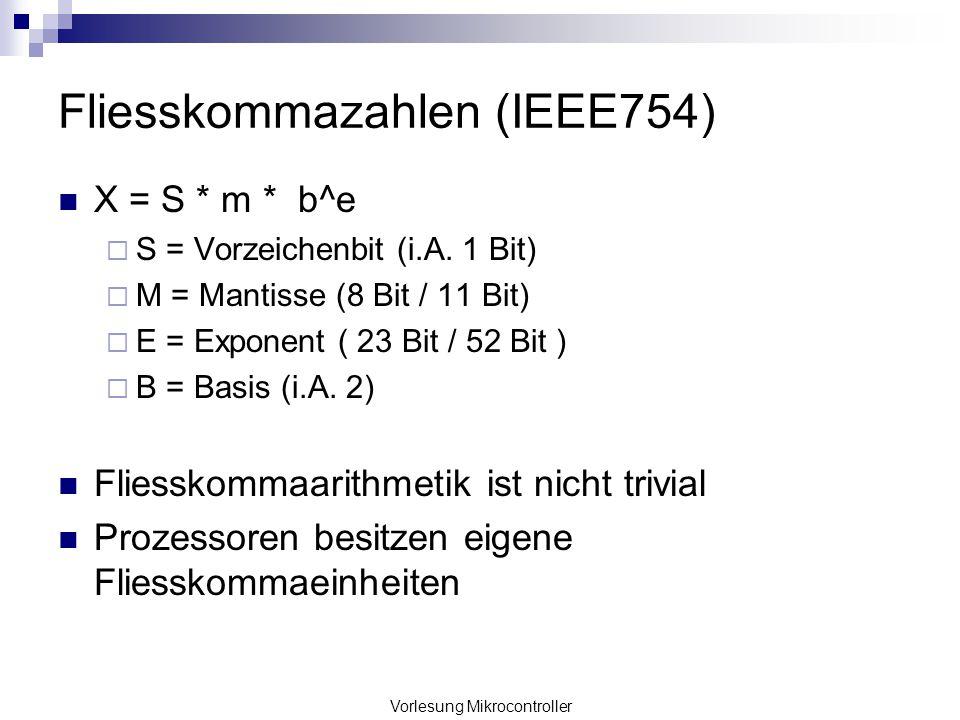 Fliesskommazahlen (IEEE754)