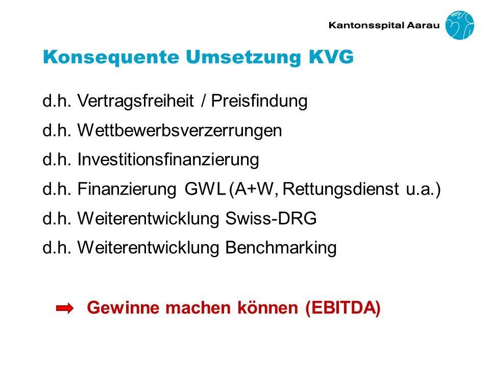 Konsequente Umsetzung KVG