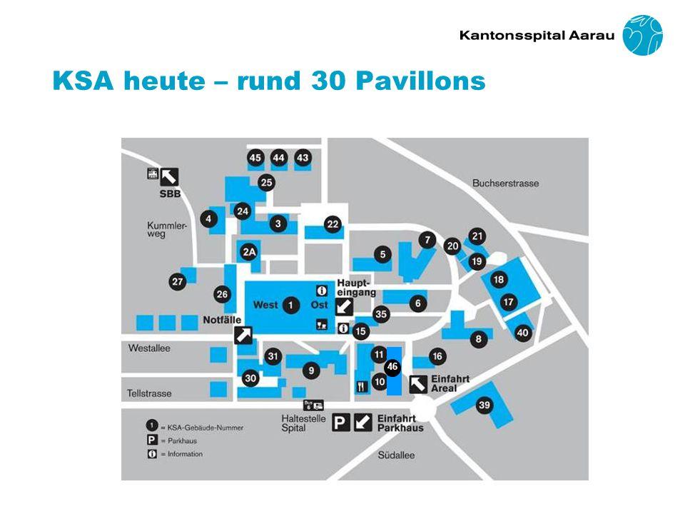 KSA heute – rund 30 Pavillons