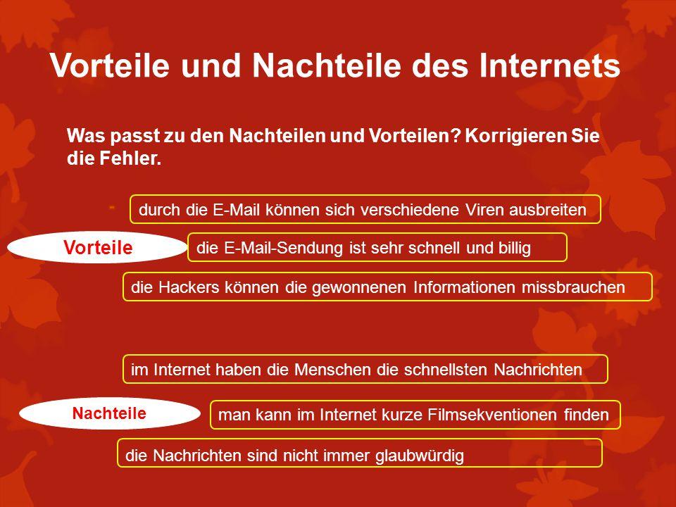 Vorteile und Nachteile des Internets