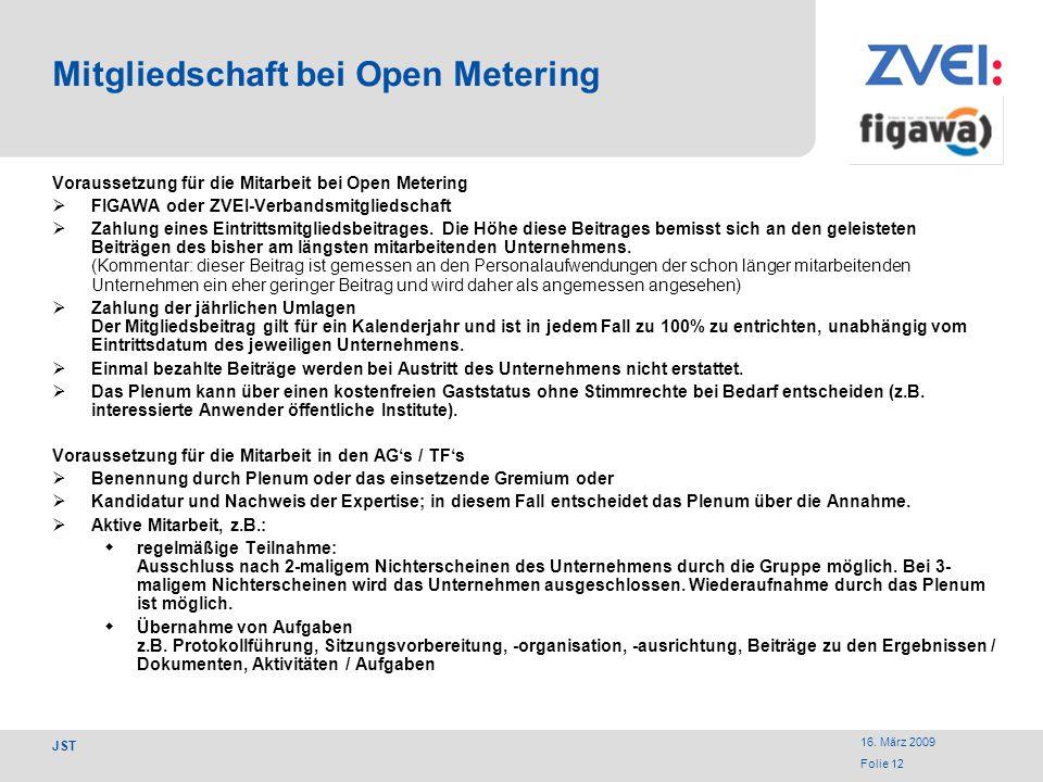 Mitgliedschaft bei Open Metering