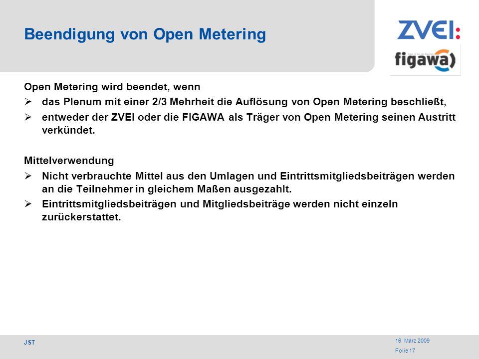 Beendigung von Open Metering