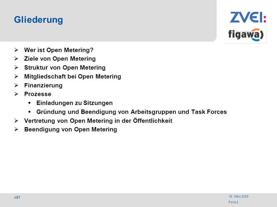 Gliederung Wer ist Open Metering Ziele von Open Metering