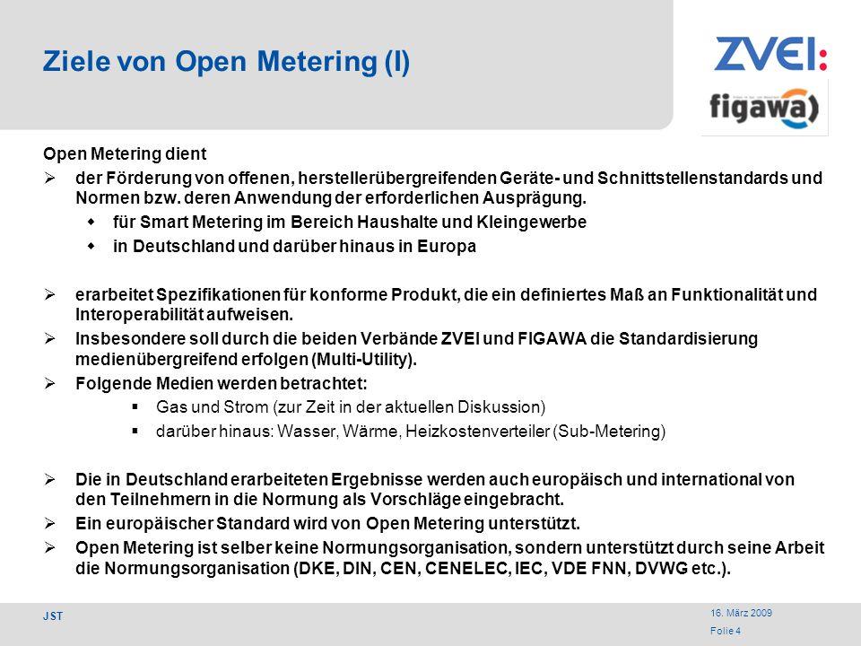 Ziele von Open Metering (I)