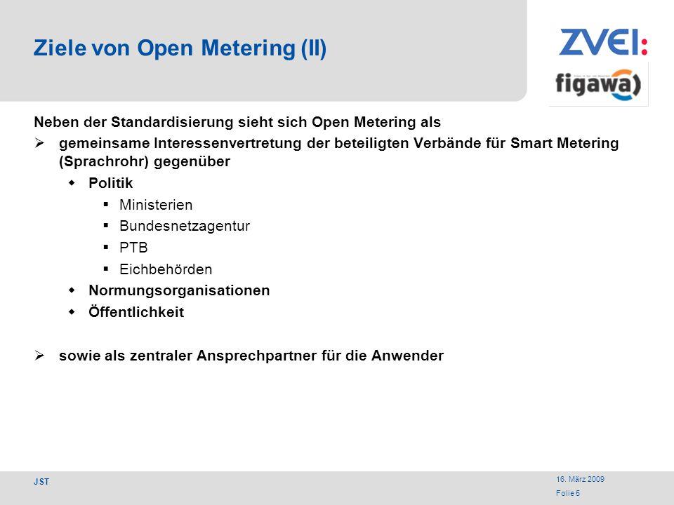 Ziele von Open Metering (II)