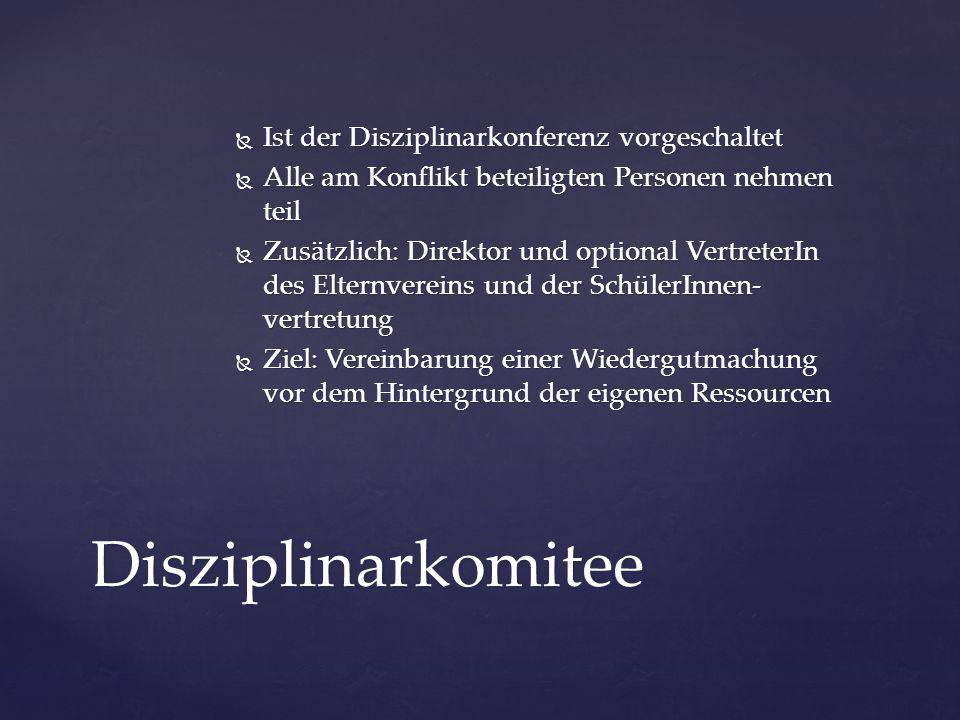 Disziplinarkomitee Ist der Disziplinarkonferenz vorgeschaltet