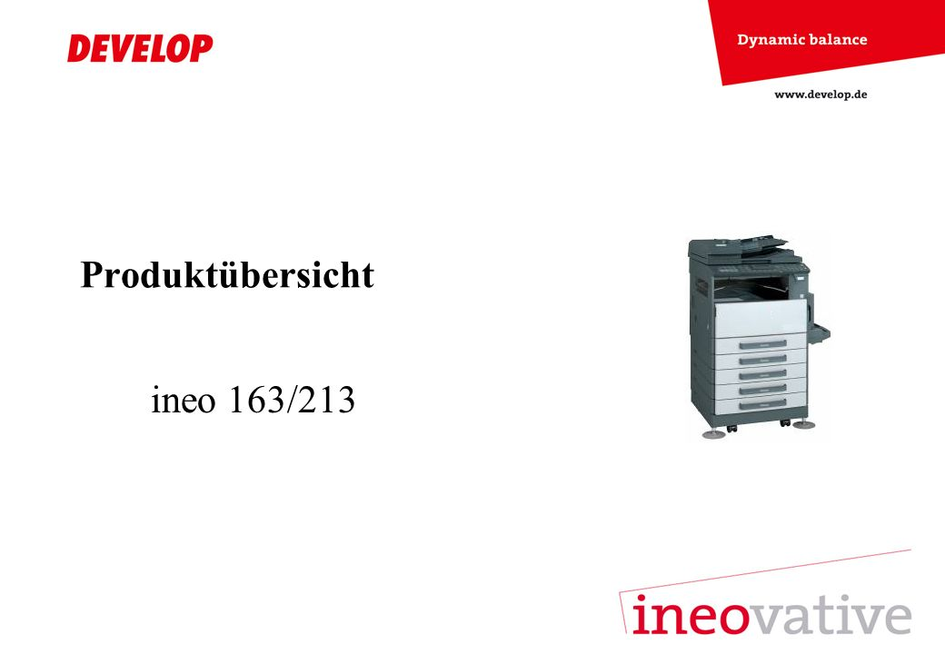 Produktübersicht ineo 163/213