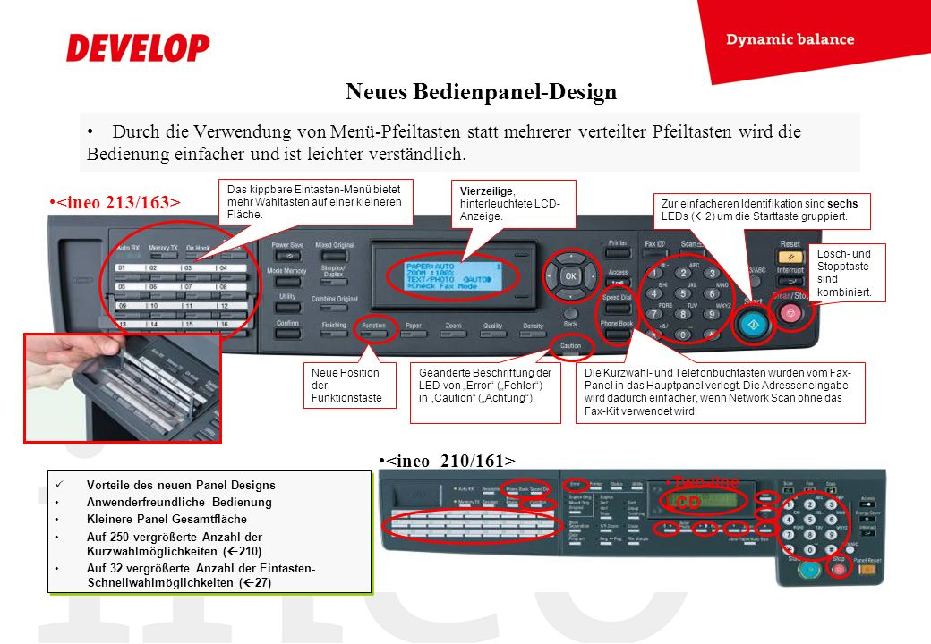 Neues Bedienpanel-Design