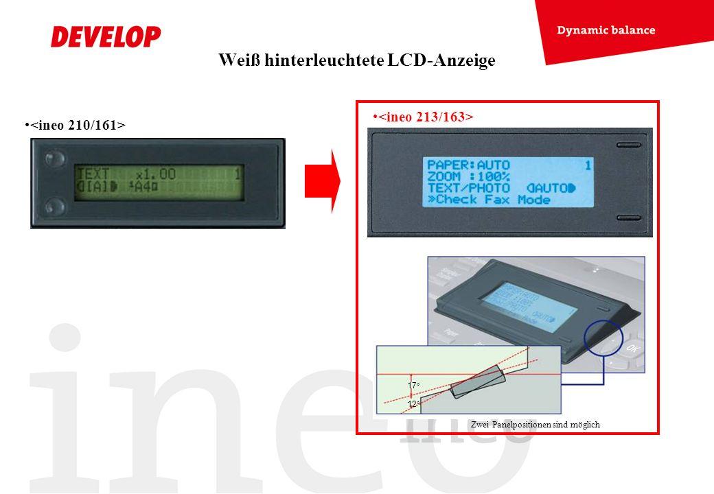 Weiß hinterleuchtete LCD-Anzeige