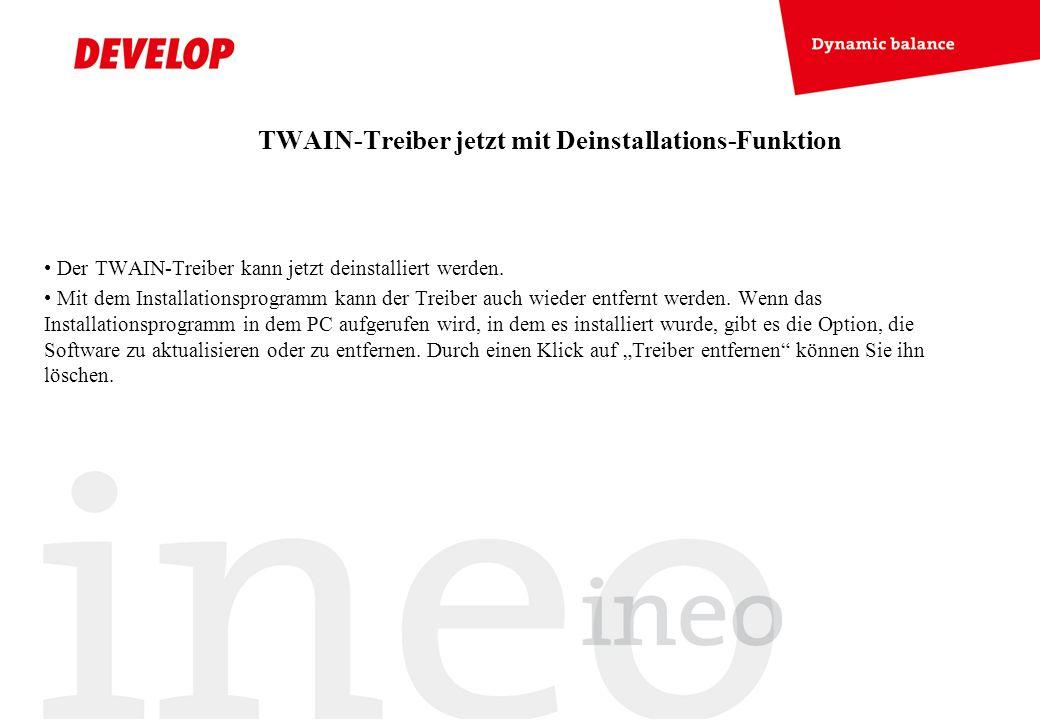 TWAIN-Treiber jetzt mit Deinstallations-Funktion