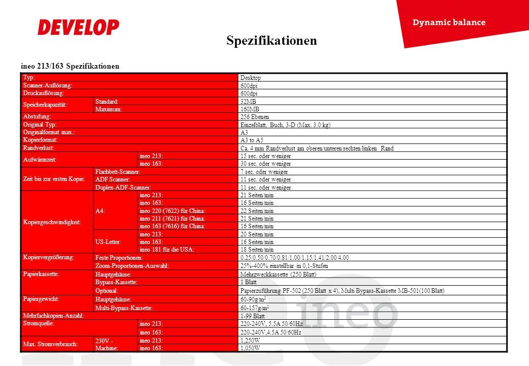 Spezifikationen ineo 213/163 Spezifikationen Typ: Desktop